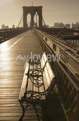 Poster Brooklyn ponte em sépia