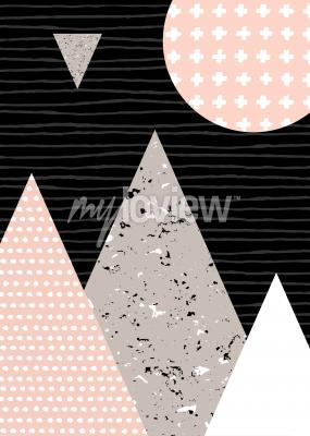 Fotomural Padrões de pontos e elementos geométricos