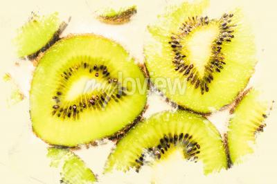 Quadro Creative, alimento, arte, fatias, kiwi, fruta