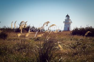 Fotomural Historic Lighthouse em Waipapa Point Catlins Nova Zelândia