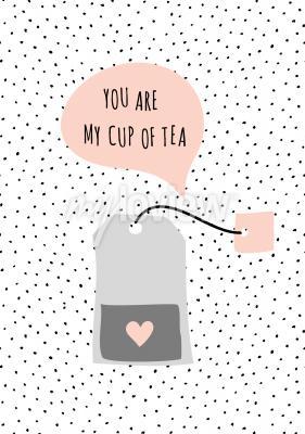 Quadro Mensagem Você é minha xícara de chá