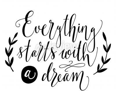 Poster Tudo começa com um sonho