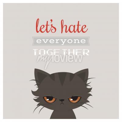 Poster Desenhos animados irritados do gato