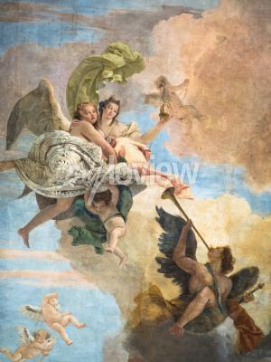 Quadro Detalhe, fresco, Giambattista, Tiepolo, Itália