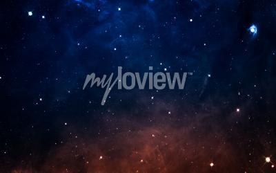 Fotomural Starfield no espaço profundo muitos anos-luz longe da Terra