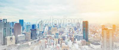 Fotomural Conceito de negócios da Ásia para construção imobiliária e corporativa