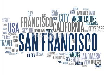 Fotomural Nuvem de palavras de São Francisco