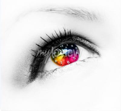 Quadro Relógio no olho