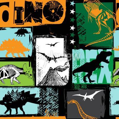 Fotomural Design original com dinossauro t-rex
