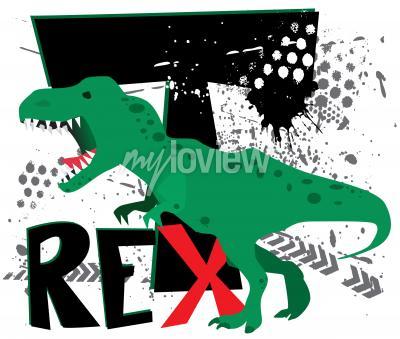 Fotomural T-rex perigoso