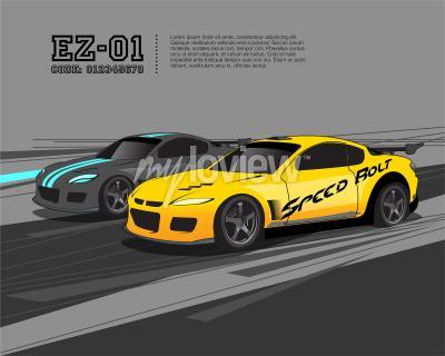 Fotomural Modelo de design de carro de corrida