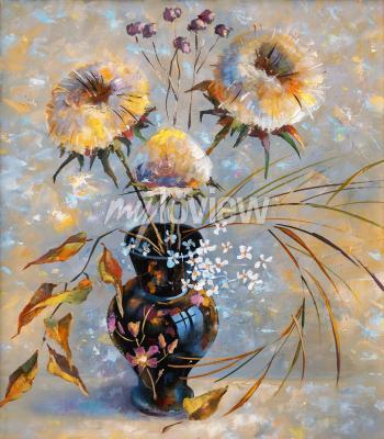 Quadro Artwork. Dry flowers. Author: Nikolay Sivenkov