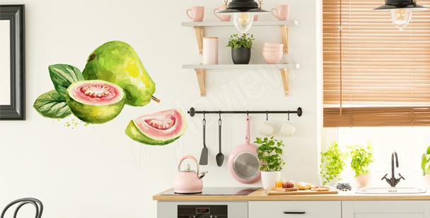 Adesivo de parede com fruta
