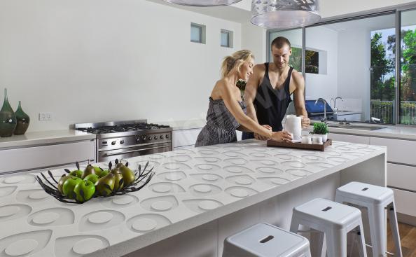 Adesivo de temas 3D para a bancada da cozinha