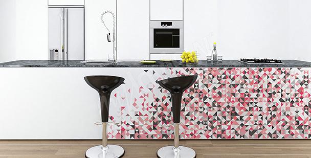 Adesivo decorativo com mosaico