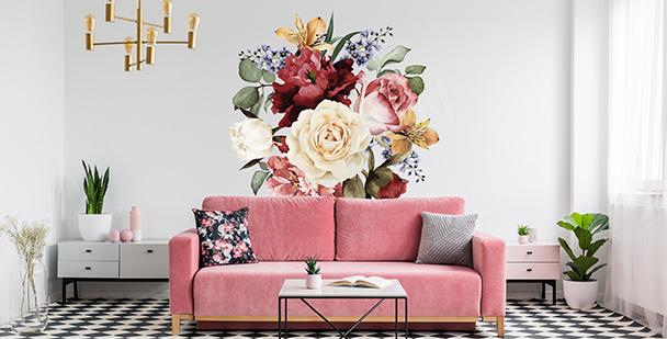 Adesivo decorativo de flores