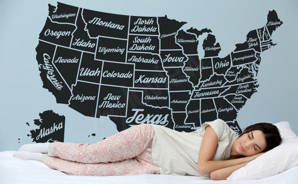Adesivo do mapa dos EUA