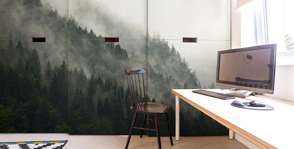 Adesivo floresta em névoa
