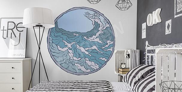 Adesivo marítimo para o quarto