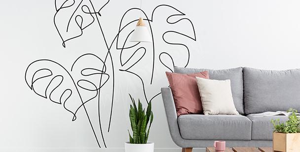 Adesivo minimalista para sala