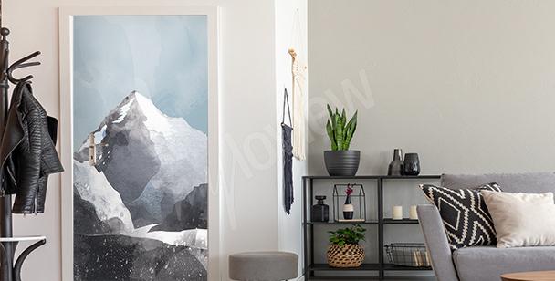Adesivo para a porta com o monte K2