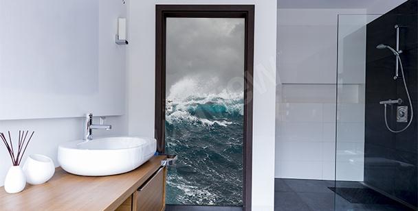 Adesivo para a porta do banheiro