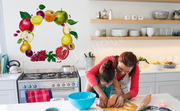 Adesivo para cozinha de frutas