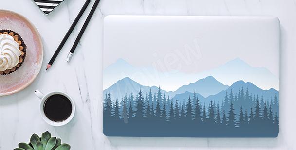 Adesivo para notebook montanhas