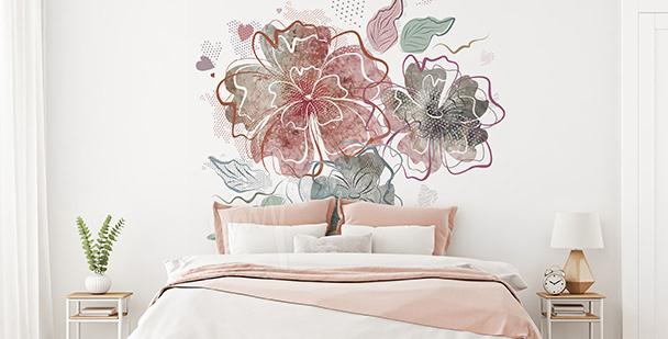 Adesivo para o quarto: flores