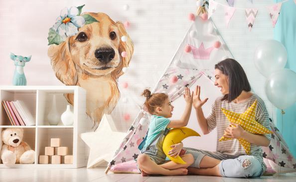 Adesivo para quarto de criança cachorro