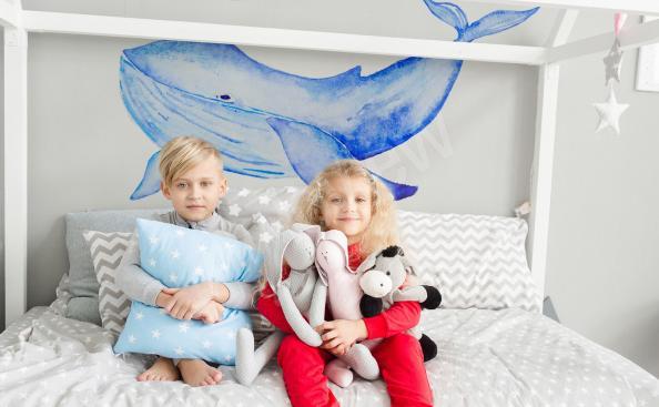 Adesivo para quarto infantil baleia