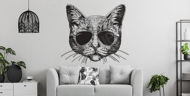 Adesivo para sala com gato