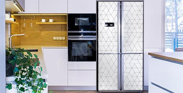 Adesivo preto e branco para geladeira