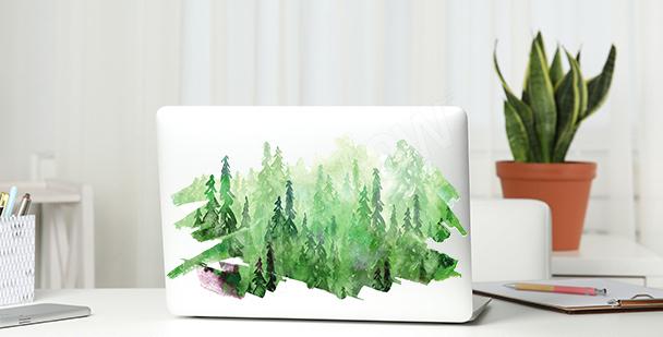 Adesivo verde com aquarela