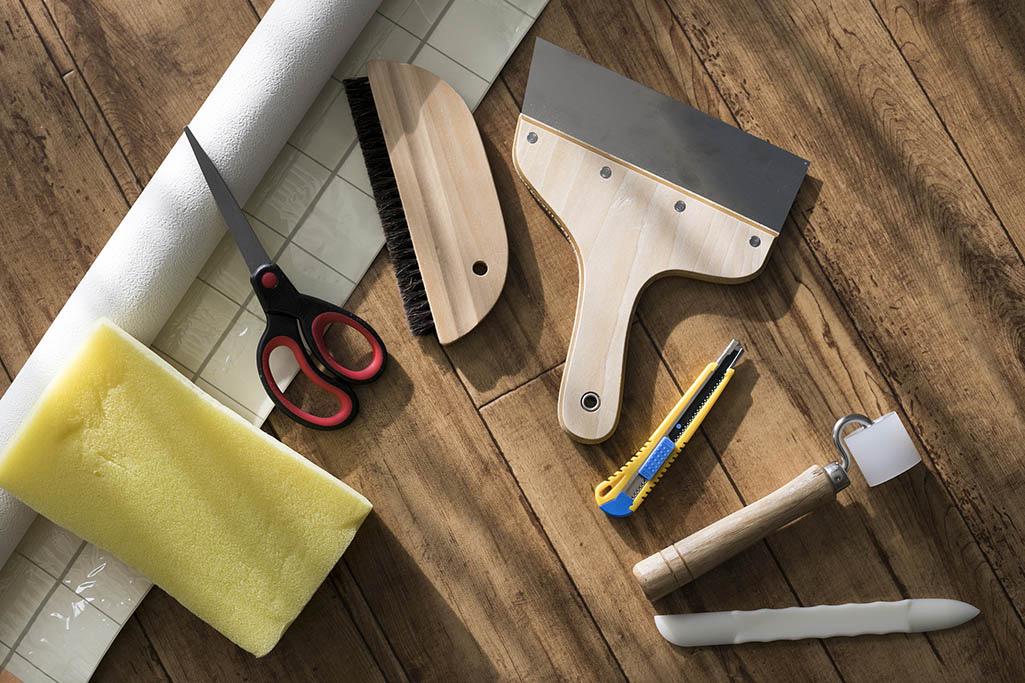 Acessórios para colocação de papel de parede