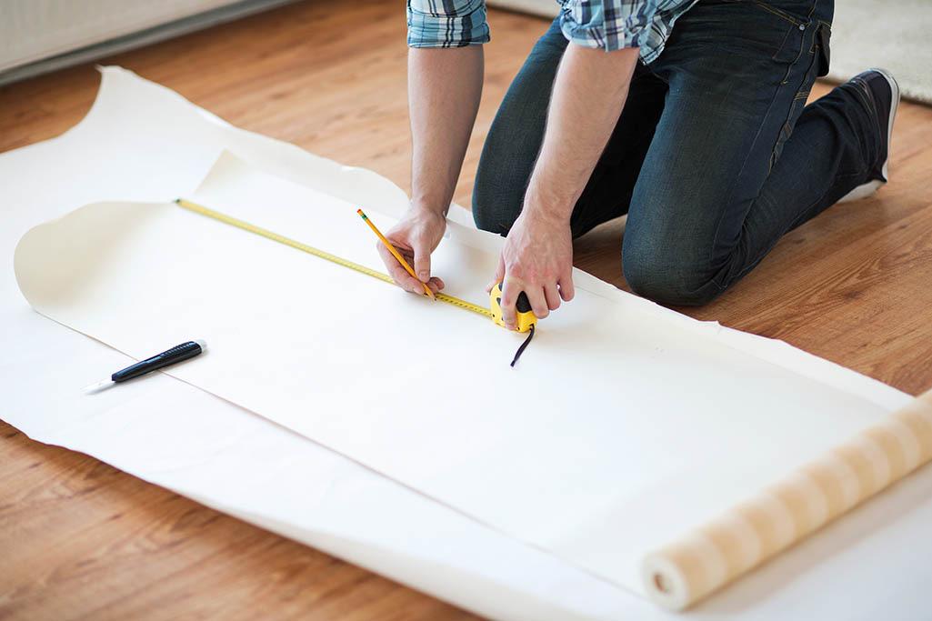 Medição do papel de parede