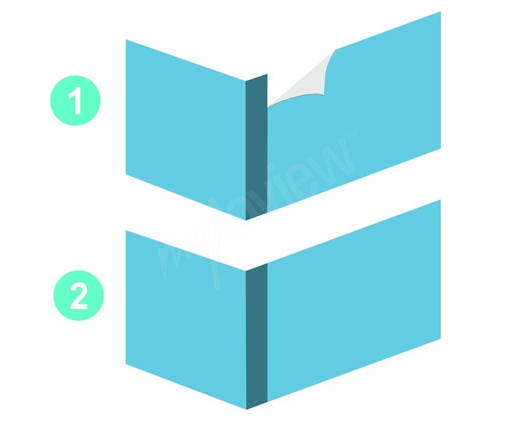 Moodboard - como colocar papel de parede em cantos convexos