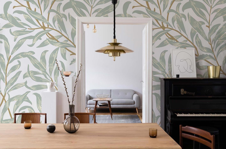 Papel de parede folhas vintage