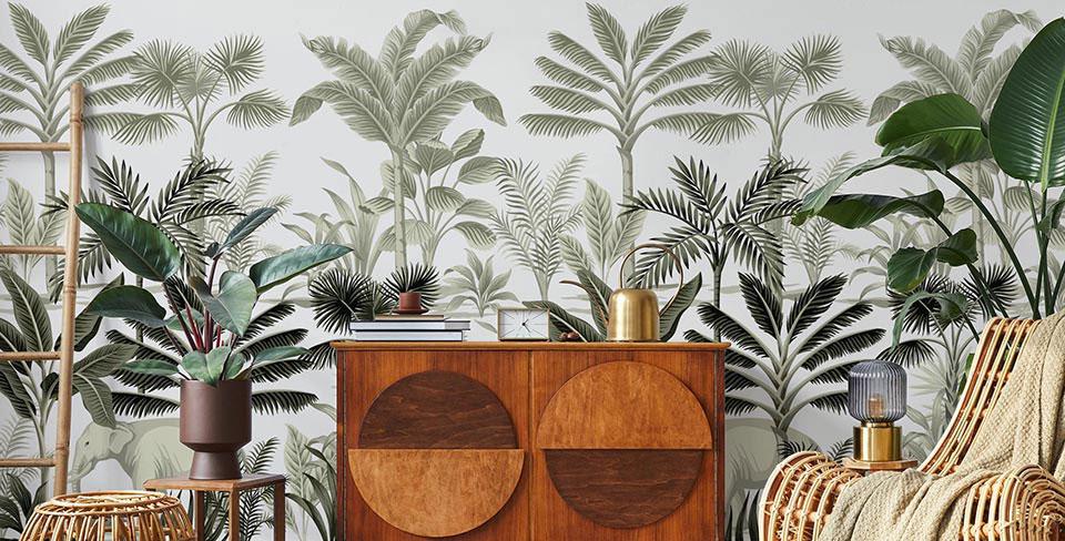 Papel de parede palmeiras vintage