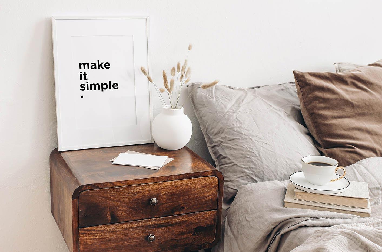 Pôster minimalista inscrição