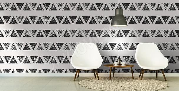 Fotomural abstrato triângulos