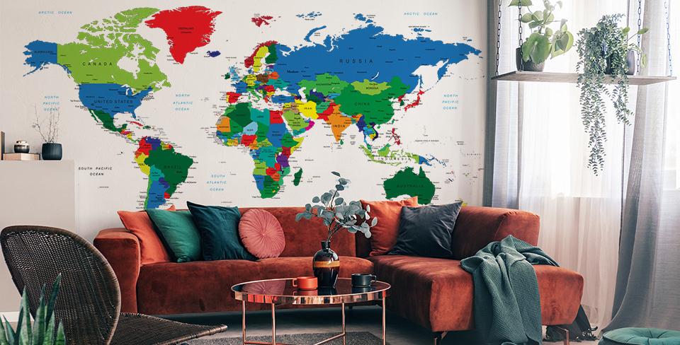 Fotomural mapa do mundo