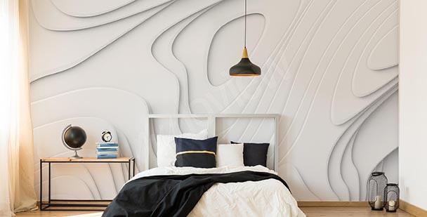 Papel de parede 3D abstração branca