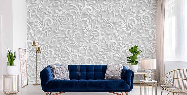 Papel de parede 3D flores