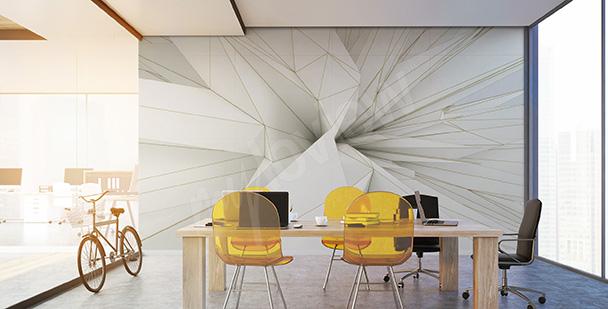 Papel de parede 3D formas afiadas