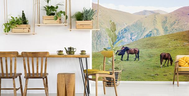 Papel de parede cavalos nas montanhas