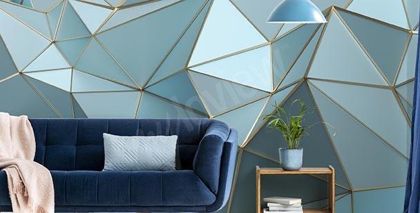 Papel de parede triângulos azuis