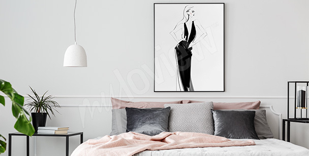 Pôster de uma mulher elegante