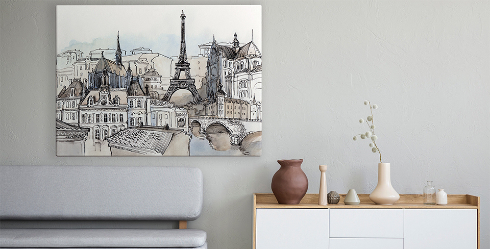 Pôster panorama de Paris