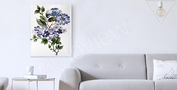 Pôster para a sala com plantas
